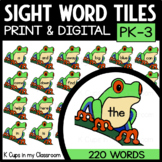 PrePrimer Sight Word Tiles: Red-Eyed Tree Frogs