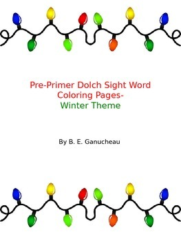 PrePrimer Sight Words Activity