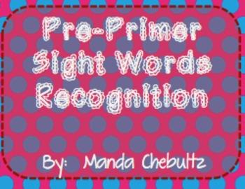 PrePrimer Sight Words Recognition