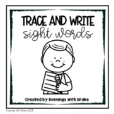 PrePrimer Sight Word Trace and Write Practice
