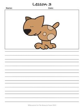 Kindergarten Writing Minilessons, Student Journal, Spelling Monitoring