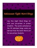 PrePrimer and Primer Sight Word Halloween Bingo