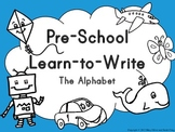 PreSchool Learn to Write The Alphabet Set