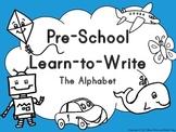 PreSchool Learn to Write The Alphabet Set