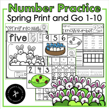 Counting and Number Recognition / I Can Count / Clip Cards