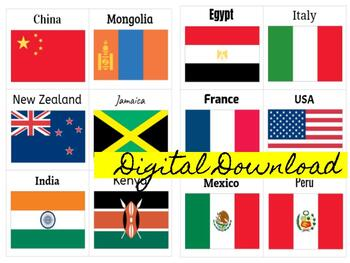 image about Printable Country Flags known as PreVIP Position A single Nation Flag Printables VIPKID by way of Amanda