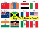 PreVIP Level One Country Flag Printables VIPKID
