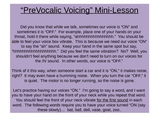 PreVocalic Voicing Mini-Lesson