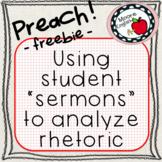 "Preach! Using Student ""Sermons"" to Teach Rhetoric"