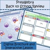 Pre Algebra Foundations Review Digital Interactive Noteboo