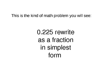 Prealgebra Concept Review Game