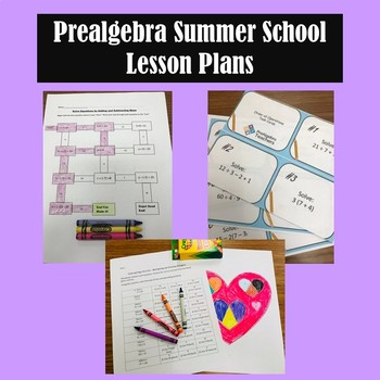 Prealgebra Summer School Lesson Plans Pack