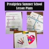Prealgebra Summer School Lesson Plans Pack