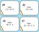 Prealgebra Task Cards Testing Review Bundle