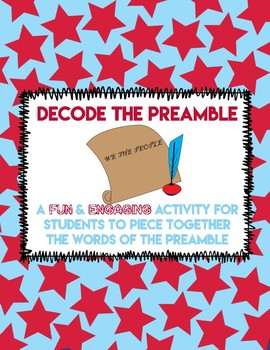 Preamble to the Constitution Activity
