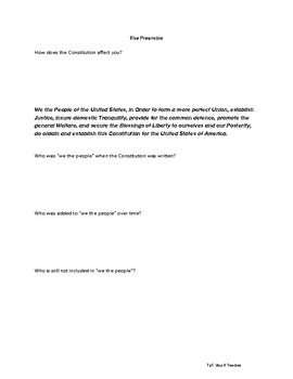 Preamble Handout