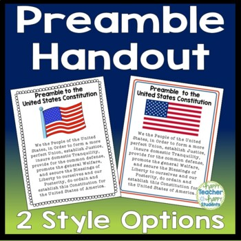 Preamble Handout, Large Font for Easy Reading