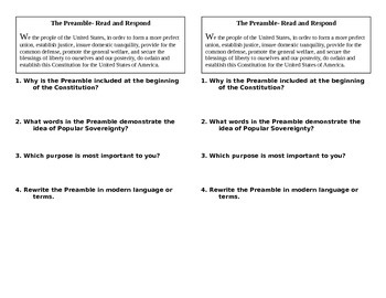 Preamble Read and Respond