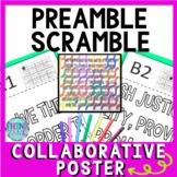 Preamble Scramble Collaborative Poster!  Team Work Activity - U.S Constitution