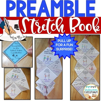 Preamble Stretch Book: Constitution Day Activity, Preamble to the Constitution