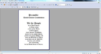 photo about Preamble Printable named Preamble and Monthly bill of Legal rights Printable Clroom Pictures