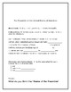 Preamble of the Constitution: Cloze activity, parts of spe