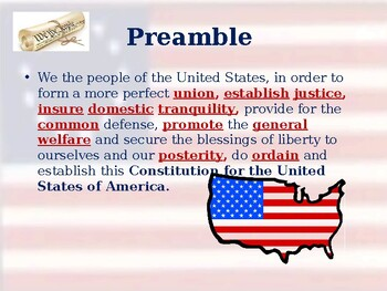 Preamble of the Constitution - Vocabulary Exercise
