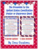 Preamble to U.S. Constitution Poster Reference Sheet - 5 DESIGN CHOICES