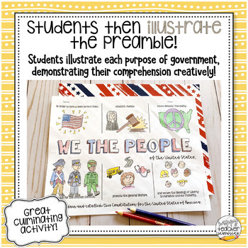 Preamble to the Constitution Activity Bundle | for Civics & American History