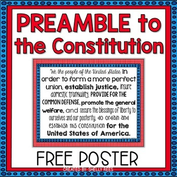 Preamble to the Constitution FREEBIE