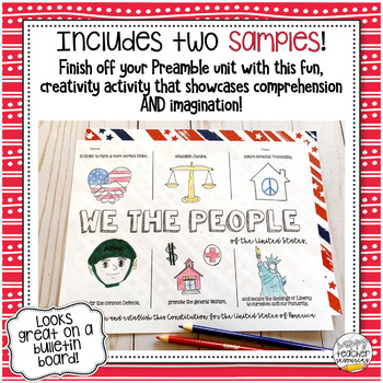 We the People | Preamble to the Constitution One Pager Activity
