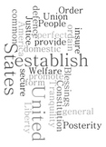 Preamble to the Constitution - Word Art Poster Prints