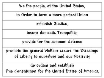 photo about Preamble Printable called Preamble towards the Consution separated into words