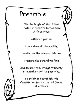 preamble to the constitution of the united states by pray love and teach teachers pay teachers. Black Bedroom Furniture Sets. Home Design Ideas