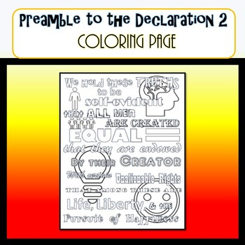 Preamble to the Declaration 2 COLORING PAGE