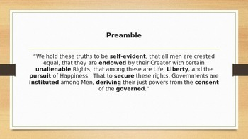 Preamble to the Declaration of Independence - Vocabulary