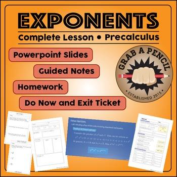 Precalculus: Exponents Complete Lesson