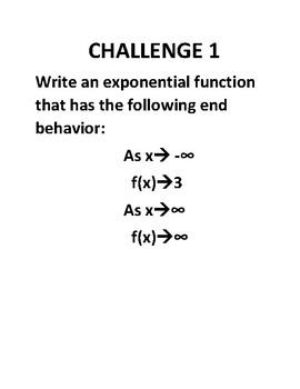 Precalculus: Function End Behavior 10 Challenges