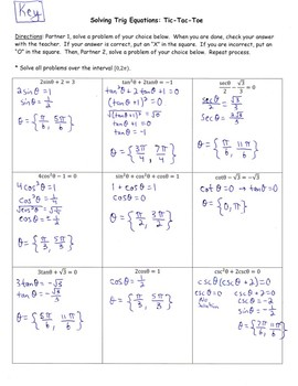 Precalculus (Pre-Calc) Solving Trigonometric Equations Algebraically
