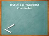 Precalculus: Rectangular Coordinates