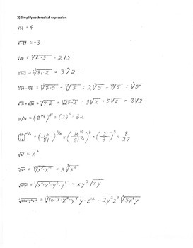 Precalculus Study Guide & Review 1: Answer Key