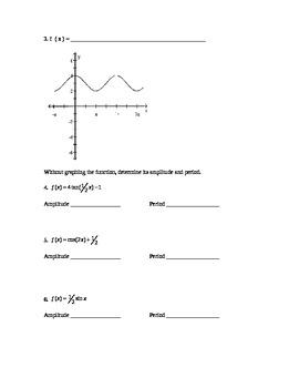 Trigonometric Graph Quiz - Comprehensive