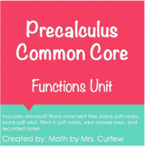Precalculus Unit - Functions (v. 2020)