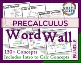 Precalculus with Intro to Calc Word Wall - Bundle