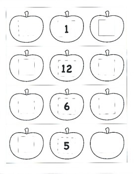 File Folder Preceding and Following Numbers Through 20 (Apple Theme)