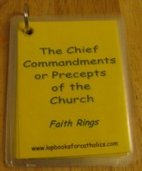 Precepts of the Catholic Church Faith Ring Flashcards