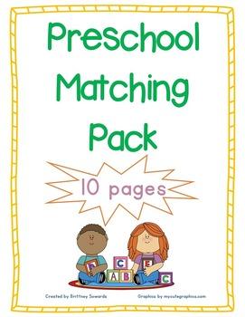 Prechool Matching Pack