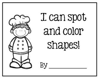 Preschool Portfolio Pages ~ Spot And Color Shapes