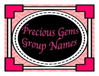 Precious Gems Group Names