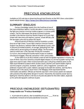 Precious Knowledge (Documentary) Handout